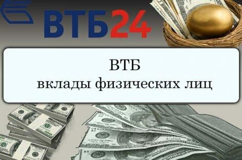 Вклады в ВТБ 24 на сегодня
